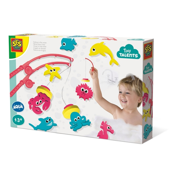 SES Creative - Children's Tiny Talents Fishing In The Water Bath Playset (Multi-colour)