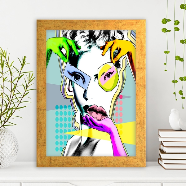 AC788937727 Multicolor Decorative Framed MDF Painting