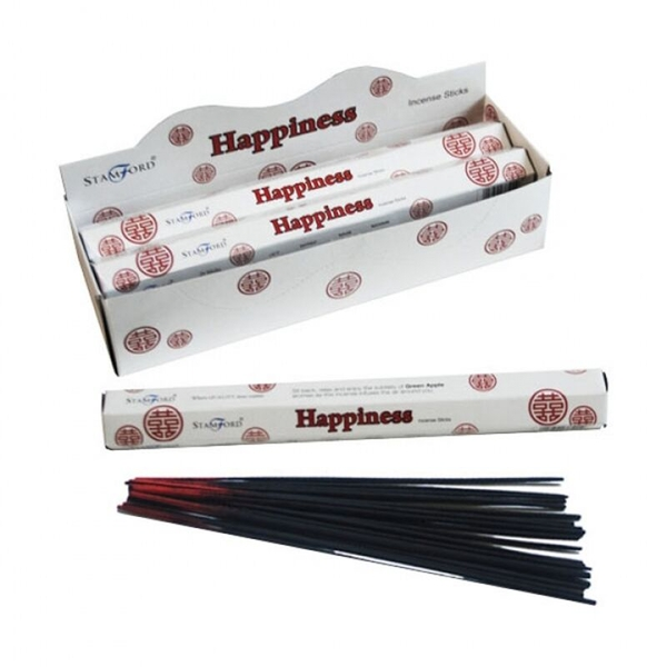 Happiness (Pack Of 6) Stamford Hex Incense Sticks