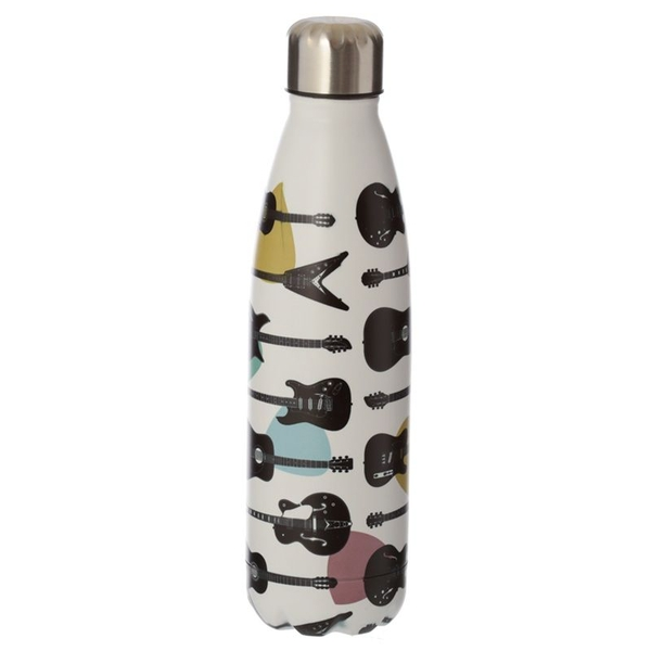 Headstock Guitar Reusable Stainless Steel Hot & Cold Thermal Insulated Drinks Bottle 500ml