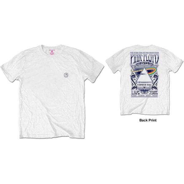 Pink Floyd - Carnegie Hall Men's Small T-Shirt - White