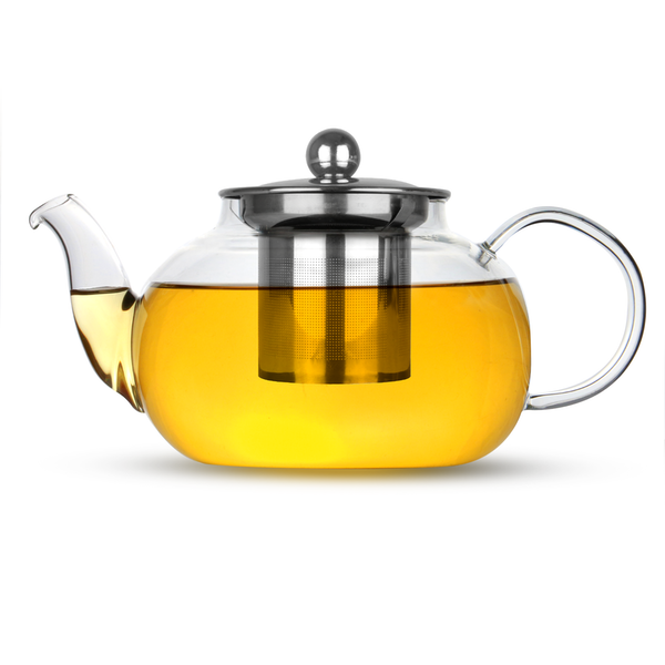 Glass Teapot Loose Leaf Tea Infuser | M&W 800ml - Image 1