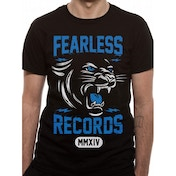 Fearless Records Cougar Men's Small T-Shirt - Black