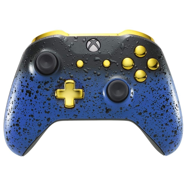 3D Blue Shadow & Gold Xbox One S Controller