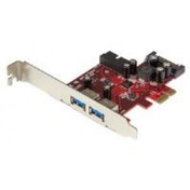 StarTech 4-Port PCI Express USB 3.0 Card 2 External 2 Internal SATA Power