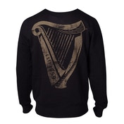 Guinness - Distressed Harp Logo Men's Large Sweatshirt - Black