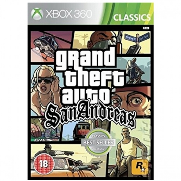 (Pre-Owned) Grand Theft Auto San Andreas GTA Xbox 360 Game (Classics) Used  - Like New