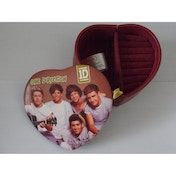 One Direction Heart Shaped Jewellery Box Gift Boxed