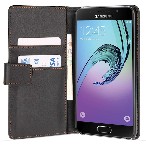 Samsung Galaxy A3 (2017) PU Wallet Case - Black