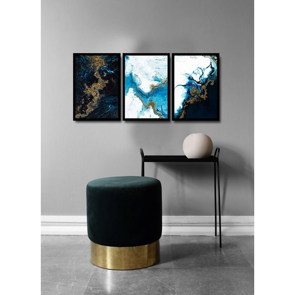 3PSCTCIZ-001 Multicolor Decorative Framed MDF Painting (3 Pieces)