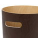 Wooden Waste Paper Bin | M&W Brown - Image 3