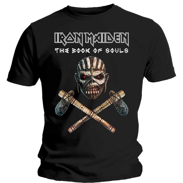 Iron Maiden - Axe Colour Unisex Small T-Shirt - Black