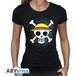 One Piece - Skull With Map Women's Small T-Shirt - Black - Image 2
