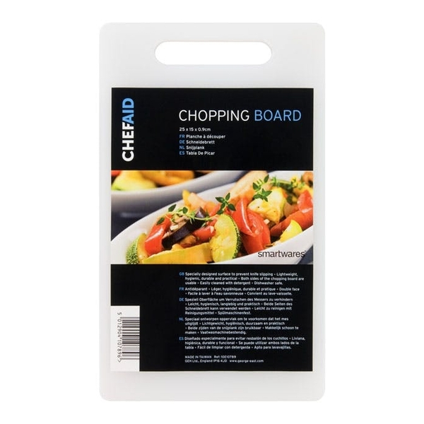 Chef Aid Poly Chopping Board 25 x 15 x 0.9cm
