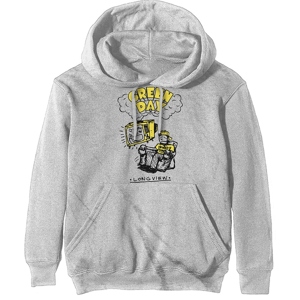 Green Day - Longview Doodle Unisex Large Hoodie - White