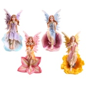 Glitter Flower Fairy (Pack Of 4) Figurine