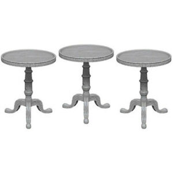 Pathfinder Deep Cuts Unpainted Miniatures Small Round Tables