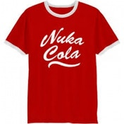 Fallout Mens Nuka Cola Logo X-Large Red T-Shirt