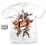 Mavel Comics Marvel Montage 2 Mens White T Shirt Large