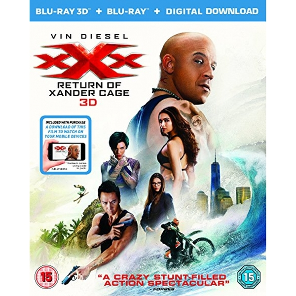 XXX The Return Of Xander Cage Blu-ray 3D   Blu-ray