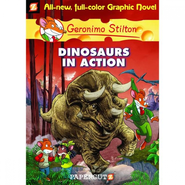 Geronimo Stilton  Volume 7: Dinosaurs In Action Hardcover