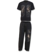 Bone Rips Men's Large 4-Piece Gothic Pyjama Set - Black