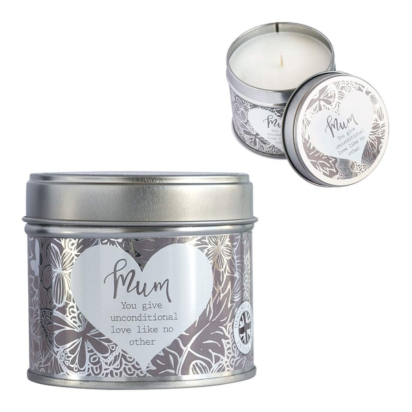 Said with Sentiment Candles in Tin Mum