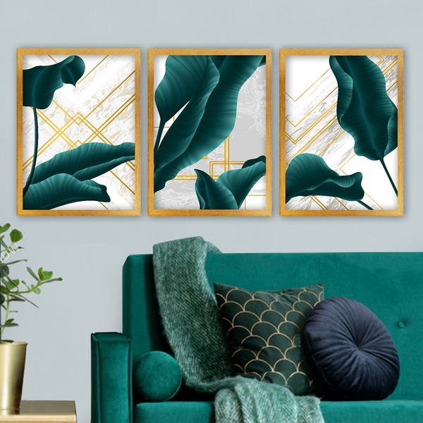 3AC177 Multicolor Decorative Framed Painting (3 Pieces)