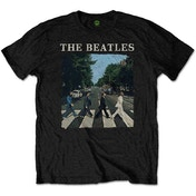 The Beatles - Abbey Road & Logo Kids 11 - 12 Years T-Shirt - Black
