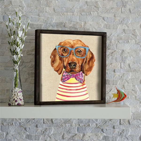 KZM606 Multicolor Decorative Framed MDF Painting