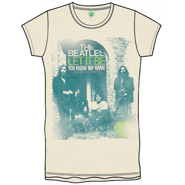 The Beatles - Iconic Logo Boy's Small T-Shirt - White