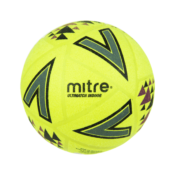 Mitre Ultimatch Indoor Football Fluo Yellow - Size 5
