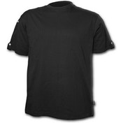Urban Fashion Rollup Sleeve Men's XX-Large T-Shirt - Black
