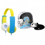 JVC Tinyphones Travel Gift Set Headphones Neck Pillow Backpack & Stickers - Yellow