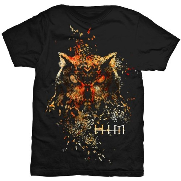 HIM - Owl Colour Unisex Large T-Shirt - Black