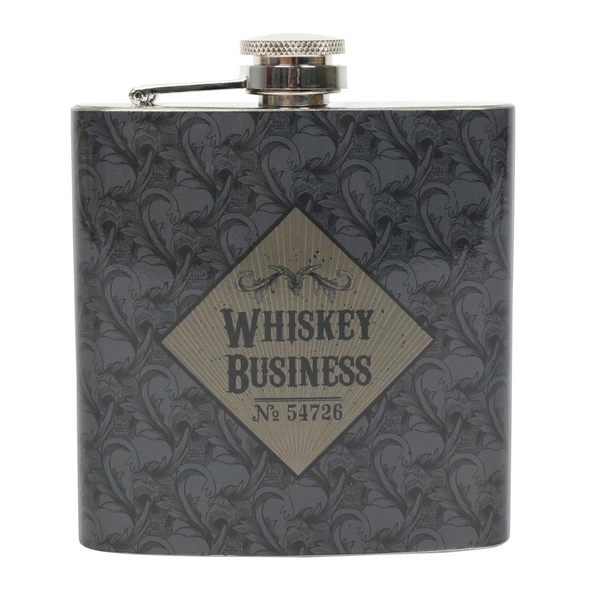 Whiskey Business 6oz Hip Flask Pack of 6