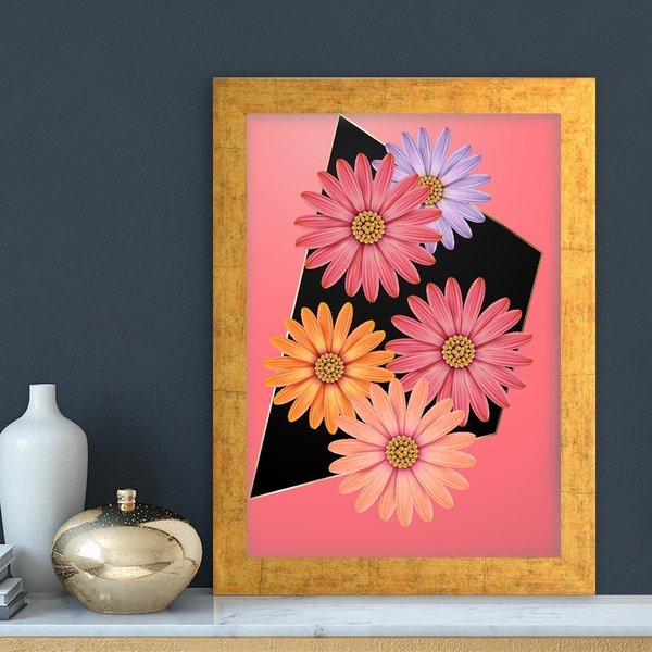 AC7224632741 Multicolor Decorative Framed MDF Painting