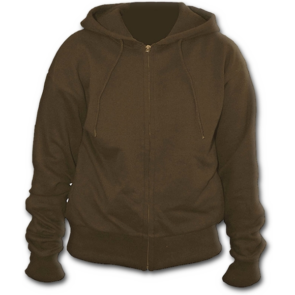 Metall Streetwear Full Zip Women's Large Hoodie - Brown