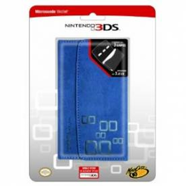 Blue Microsuede Wallet 3DS - Image 1