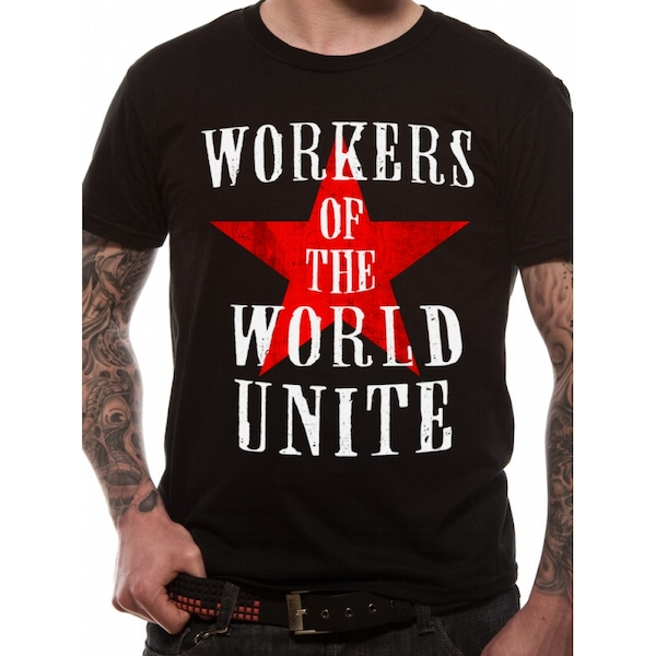 Cid Originals - Workers Of The World Men's Large T-Shirt - Black