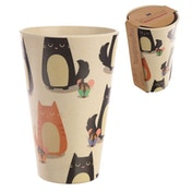 Friendly Cat Design Bambootique Eco Cup