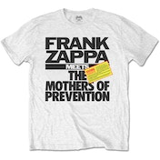 Frank Zappa - The Mothers of Prevention Unisex XX-Large T-Shirt - White