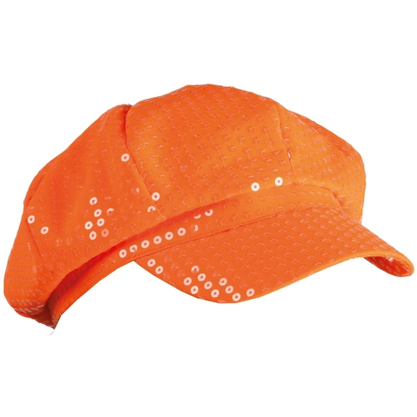 Adults Hat With Spangles (Neon Orange)