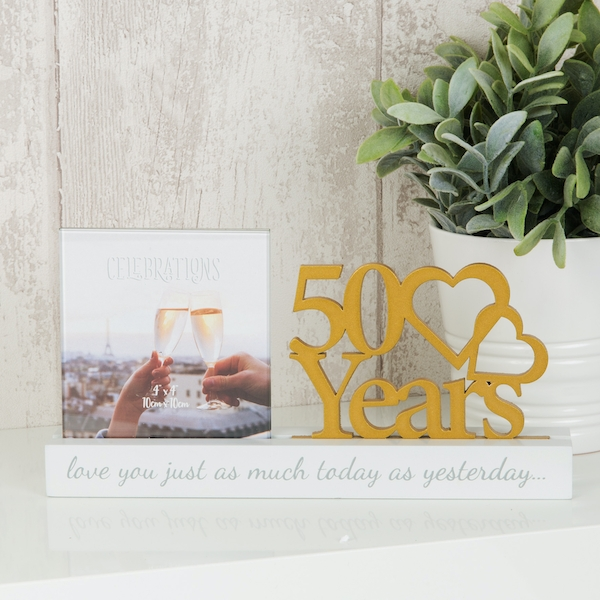 Celebrations Cut Out Photo Frame - 50 Years
