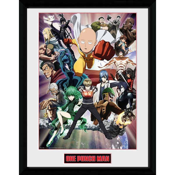 One Punch Man Key Art Collector Print