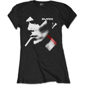 David Bowie - X Smoke Red Women's Large T-Shirt - Black