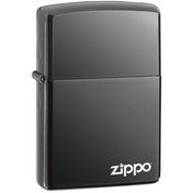 Zippo With Logo Black Ice Lighter