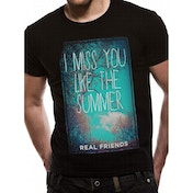 Real Friends - Summer Men's XX-Large T-Shirt - Black