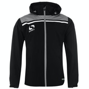 Sondico Precision Rain Jacket Adult Small Black/Charcoal