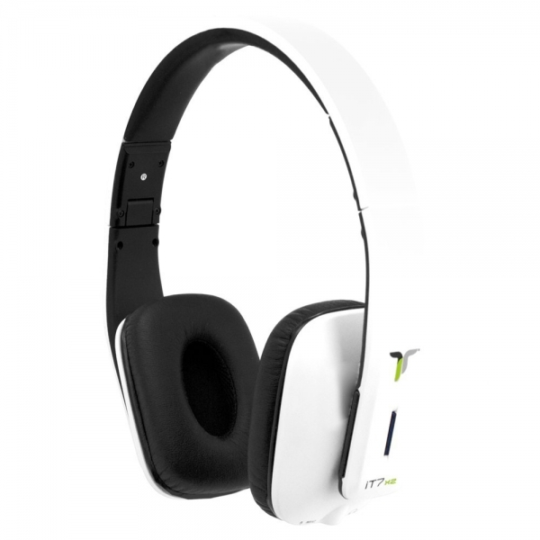 iT7x2 Foldable Wireless Bluetooth Headphones with Near Field Communication NFC White